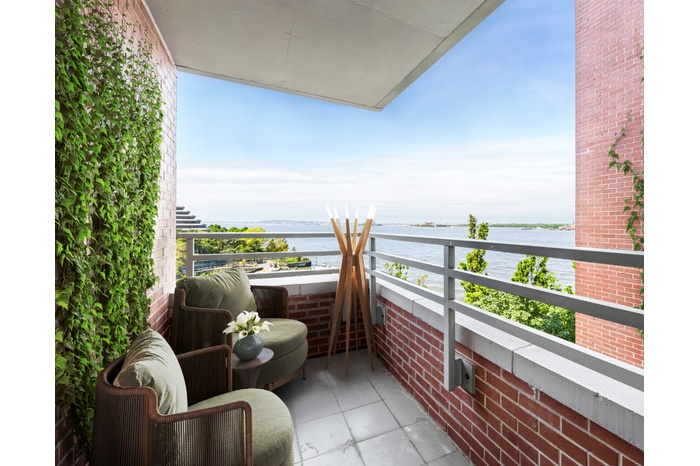 Sun-lit Two Bedroom Duplex with Stunning Views of the Statue of Liberty